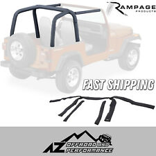 Rampage Roll Bar Pad & Cover Kit - Denim Black for 92-95 Jeep Wrangler YJ 768915