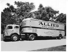ALLIED VAN LINES 1950s WHITE 3000 LINCOLN STORAGE, Cleveland, OH 8x10 B&W Photo