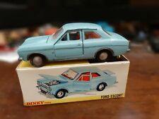 DINKY TOYS 168 FORD ESCORT BLUE GIOCATA GOOD BOX VINTAGE