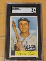 1954 Bowman #58 Pee Wee Reese SGC 3 New Label Graded