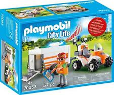 Playmobil City Life Rescue Quad with Trailer LIghts Sound Emergency Medic