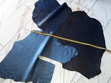 LEDER TIP 29681-AB, Lederreste, 3-Lederhäute-Konvolut, blaue Farben, nappa