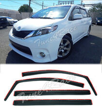 For 11-Up Toyota Sienna Side Vent Window Visors In-Channel Rain Guard Deflectors