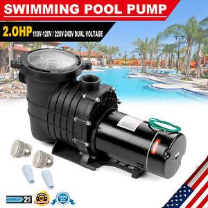 2.0HP Swimming Spa Pool Pump Motor Strainer Inground Above Ground For Hayward