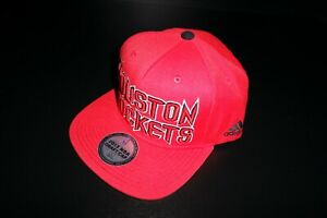 NBA Adidas Houston Rockets 2013 Official Draft Cap Hat Snapback Adjusted RARE