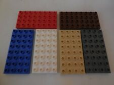 "Lego Duplo - 6 x 2.5 x 5"" BASE BOARDS / PLATES 4 x 8 - Ideal 4 House, Zoo, Farm"