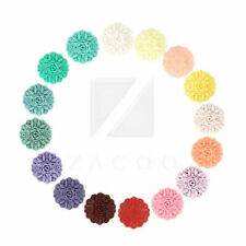 4/16pcs Resin Flatback Cabochon Cameo Flower Craft Embellishment 23x23x8mm