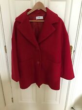WOMENS LA REDOUTE RED BUTTON UP SMART LIGHTWEIGHT COAT JACKET UK 10
