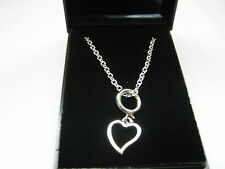 """Joblot 10 x Heart Pendant  & Silver Plated 24"""" Cable Chain Necklaces & Gift Boxs"""