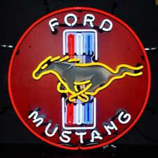 """FORD Mustang Car Racing OLP Sign Neon Sign 24""""x24"""""""