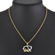 Fashion Vintage Double Elephant Pendant Chain Choker Charm Necklace Jewelry