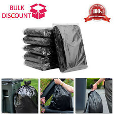 More details for black bin bags extra strong heavy duty liners thick rubbish waste refuse sacks