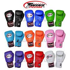 NTW Twins Muay Thai Boxing Gloves Leather BGVL3 Training 8 10 12 14 16oz