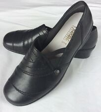Rieker Extra Large Fit Noir Cuir Chaussures Flats 6 39 New Slip-ons antistress