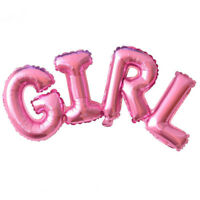 Pink Boy girl connection foil balloons birthday party Helium baby Shower Gift