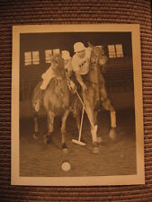 Hall of Fame Polo Player Hugo Dalmar JR & Jerry Fordon Orig. Chicago Horse Photo