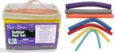 """Rubber Flex Perm Rods 60-pack 7 sizes  7 colors  8""""  Soft 'n Style EZ-SET60"""