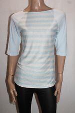 One Teaspoon Brand Blue 'Love Song' Stripe 3/4 sleeve Tee Top Size S BNWT #TM19