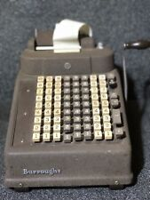 Vintage Burroughs 8 Column Adding Machine Mechanical Industrial Calculator
