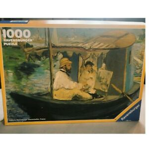 """VTG 1990 West Germany Ravensburger Monet """"The Boat"""" 1000 Pc Jigsaw Puzzle Comple"""