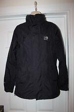 Ladies Black Karrimor Weathertite Jacket Size 8 Walking Hiking Coat
