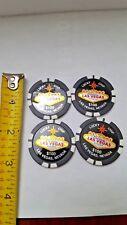 Las Vegas Nevada Lucky Chip Magnets Sin City Slots Casino Money Lucky (Lot Of 4)