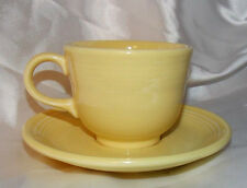 Fiesta Ware Coffee Tea Cup and Saucer Pale Yellow 1994 MINT Unused Contemporary