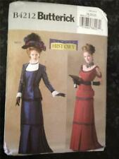 Butterick Sewing Pattern 4212 Ladies Victorian Historical Costumes Size 6-10 UC