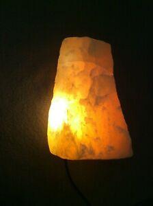Orangencalcit Quellstein für Edelsteinbrunnen + Pumpe mit Beleuchtung Seliger