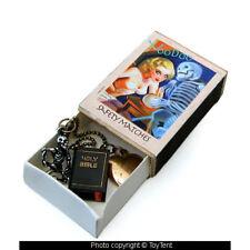 Voodoo matchbox vintage charms skeleton & look-inside Bible + heart keepsake box