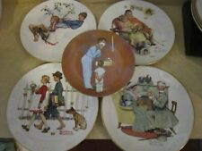 Lot of 5 vintage 1970's Norman Rockwell collector plates - excellent - no boxes