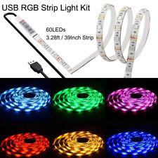 39inch USB 5050 LED Strip Light 60 SMD TV PC Backlight Mood Lighting Kit 3.28ft