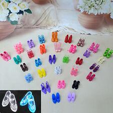 12 Schuhe = 10 Zufällige Sandale + 2 Imitate Kristall High Heel Für Barbie Puppe