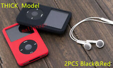 2X THICK New Silicone Skin Cover Case for iPod Classic 6th 160GB Video 60GB 80GB