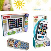 Fisher Price Smart Phone Tablet Remote Baby Toy Toddler Mobile Phone Educational