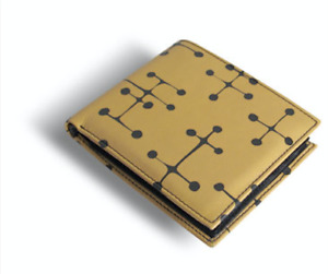 """ACME Studio CHARLES AND RAY EAMES """"Dots Yellow"""" Printed Leather Billfold Wallet"""