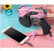 New Overwatch D.va Gun with LED Cosplay Portable Power bank Charger 8000mah Prop