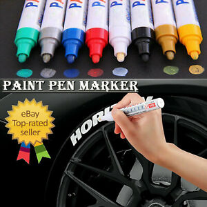 Paint Pen Marker Many Colours For Car Tyre Metal Glass Rubber Permanent Pens
