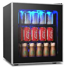 60 Can Beverage Refrigerator Beer Wine Soda Drink Cooler Mini Fridge Glass Door