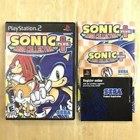 Sonic Mega Collection Plus Playstation 2 PS2 Complete CIB Manual Insert Tested