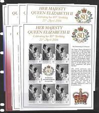 ST.VINCENT SG5529/36 2006 80th BIRTHDAY OF QUEEN ELIZABETH SHEETLETS MNH