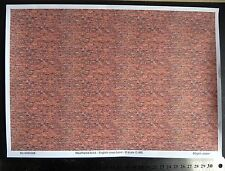 O gauge (1:48 scale) weathered brick paper - A4 sheet (210 x 297 mm)