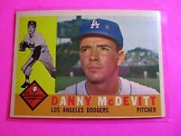 1960 TOPPS baseball Set Break #333 Danny McDevitt Dodgers NmMt High Grade