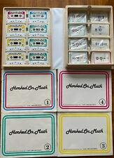 Vintage Hooked On Math Books, Flashcards, & Cassette Tapes 1988 - *Complete*