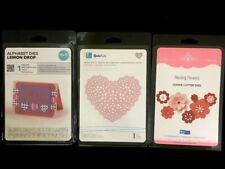 Quickutz Cutting Dies Lot 3pk Alphabet Letters Nesting Flowers Doily Lace Heart
