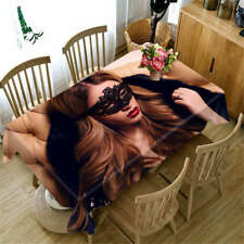 Mask Beauty 3D Tablecloth Table cover Cloth Rectangle Wedding Party Banquet