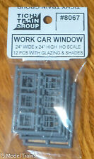 Tichy Train Group #8067 (HO Scale) Work Car Windows pkg(12) -- Horizontal - 24 x