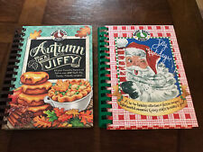 Lot Of 2: Gooseberry Patch Cookbooks Autumn In A Jiffy Jolly Holidays