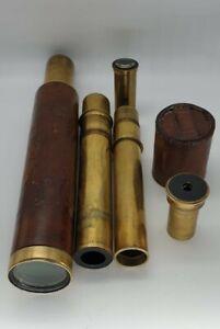 Antique Telescope, Handheld,  Draw Refractor, Cary London, Circa 1820 Georgian