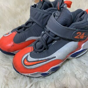 2013 NIKE Ken Griffey Size 1Y Toddler Kids Athletic Baseball Shoes #437354-141
